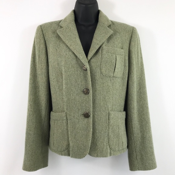 Lauren Ralph Lauren Jackets & Blazers - Lauren by Ralph Lauren celadon/cream wool blazer